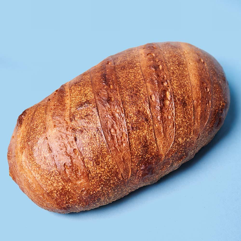 Hoagie roll dough as bread. Note the mirror sheen.