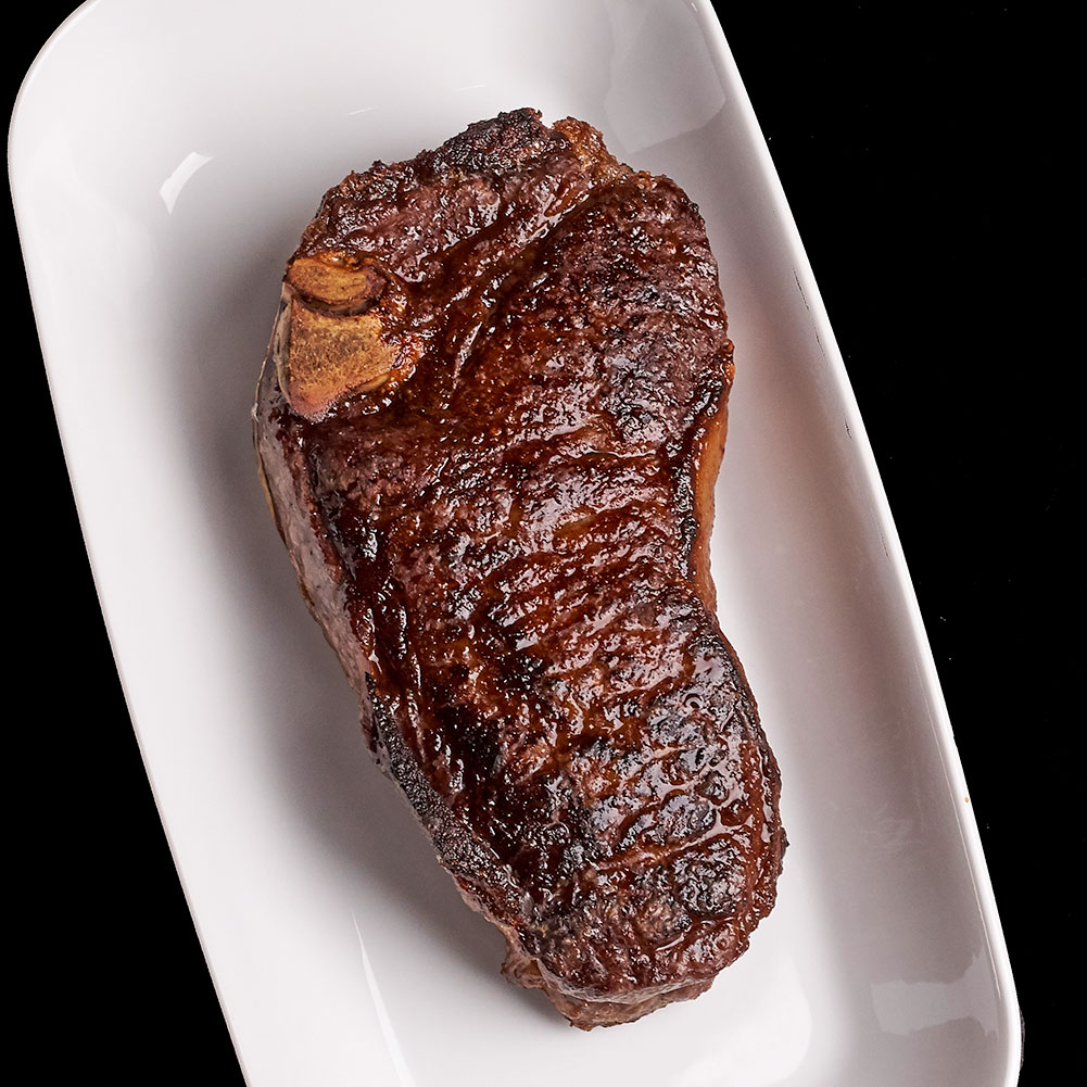 My mom said that this Lobel's bone-in strip steak looked like a foot, and now I can't unsee it.