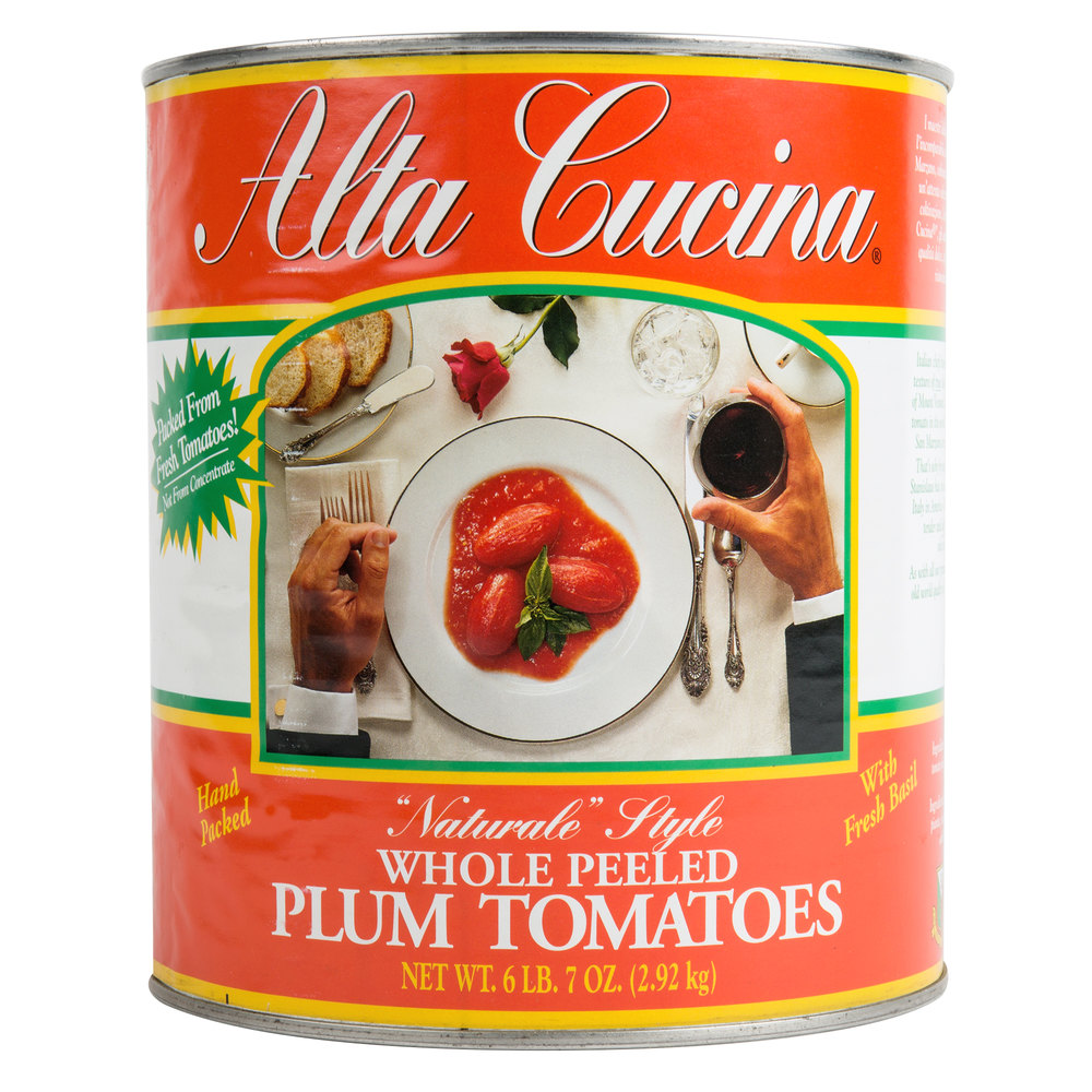 "#10 Can Alta Cucina ""Naturale"" Style Plum Tomatoes - 6/Case by Stanislaus"