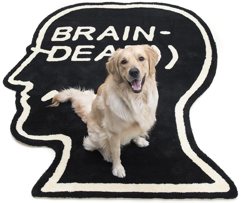 Logo Head 6ft-Rug - Black by Brain Dead