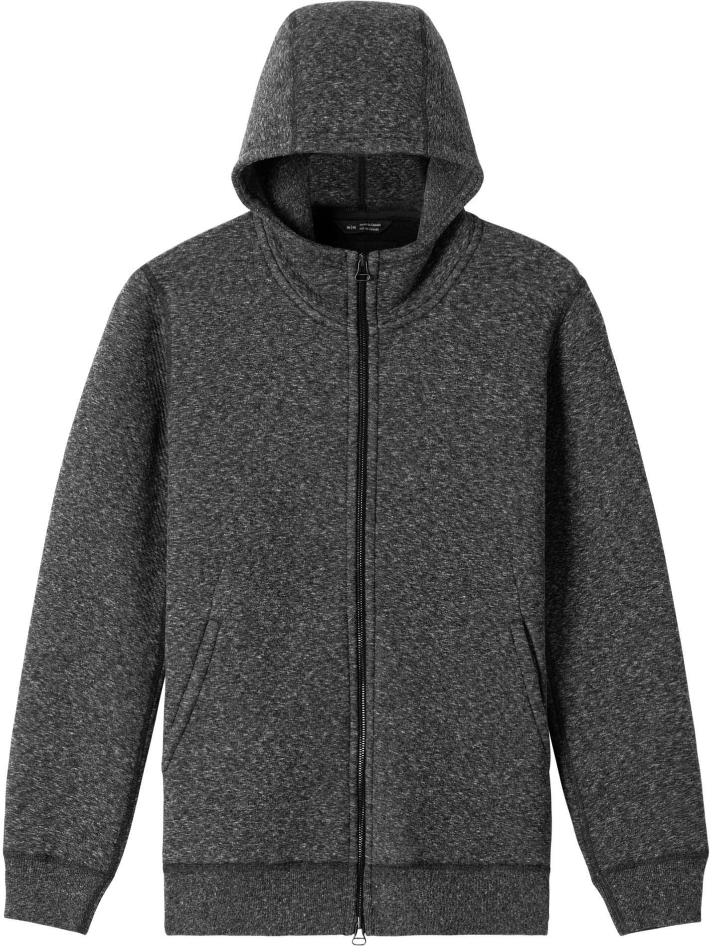 Cabin Fleece Zip Hoodie - Melange Black by wings+horns