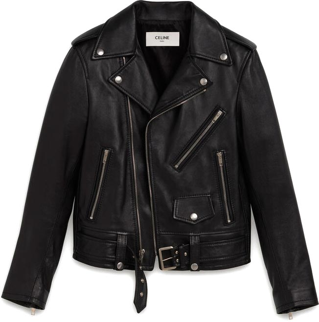 Women's Classic Biker in Lambskin by CELINE