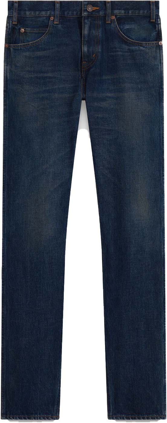 Men's Low-rise Slim Pants in Denim by CELINE