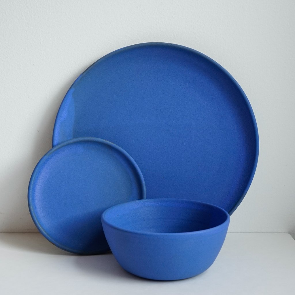 Cobalt dishes by Helen Levi