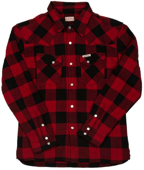 Animal Face Winter Flannel - Black/Red Snap by The Flat Head