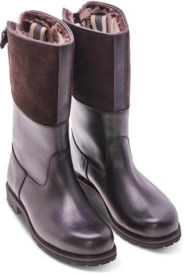 Maronibraterin shearling-lined leather boots by Ludwig Reiter