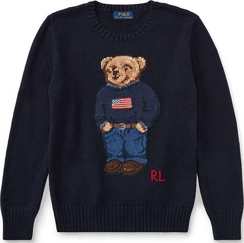 Kids' Polo Bear Cotton Sweater by Ralph Lauren Boys 8–20