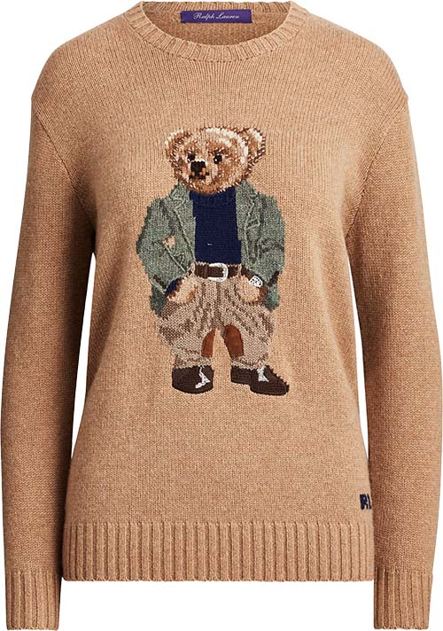 Women's Bedford Bear Cashmere Sweater by Ralph Lauren Collection Apparel
