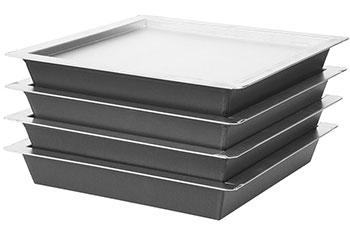 "SICILIAN PAN 12""x12""x1.5"" PSTK (H76F-12X12X1.5-PSTK) AND LID (XSEP-12X12) by Lloyd Pans"