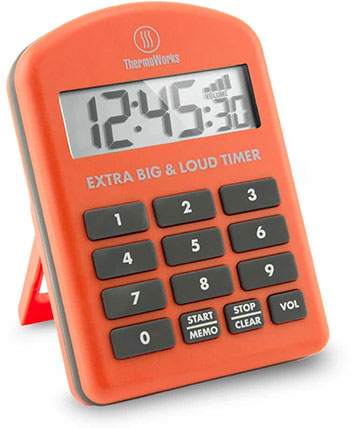 Extra Big and Loud Timer by ThermoWorks